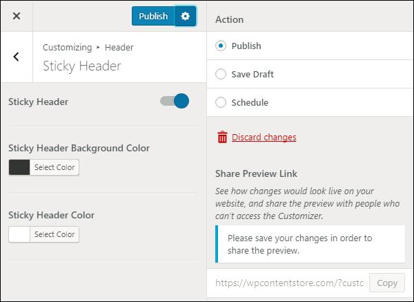 Improved Customizer Workflow