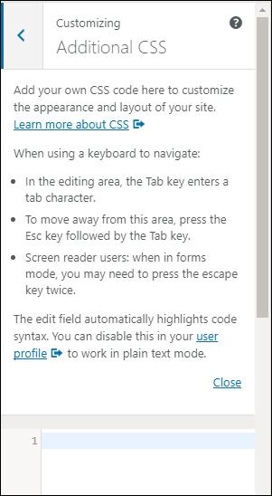Edit your WordPress Theme CSS