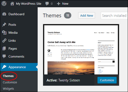 Revert to your default WordPress theme when troubleshooting theme issues