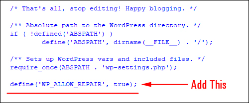 Add this line of code to your wp-config.php file