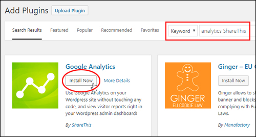 Google Analytics by ShareThis - Install Now